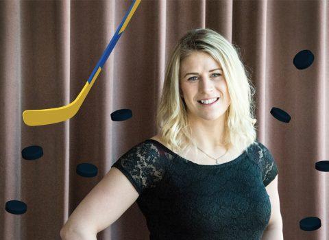 Jenni Asserholt, lagkapten HV71